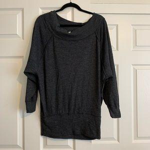 Free People oversized charcoal gray sweatshirt